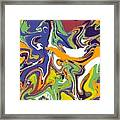 Swirls Drip Art Framed Print