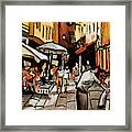 Taking A Stroll Through Downtown Framed Print