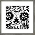 Tangled Skull Framed Print