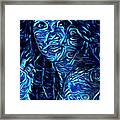 Tatto Lady With The Blues Framed Print