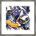 Tennessee Titans Karl Klug And Chris Hope And Minnesota Vikings Adrian Peterson Framed Print by Jack K