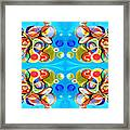 Tennis Pattern Framed Print by Ky Wilms