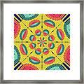 Textured Tropical Mandala Framed Print