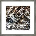 The Attack Waitress  Framed Print