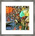 The Bathing Ghats Framed Print