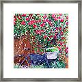 The Bike At Bistro Jeanty Napa Valley Framed Print