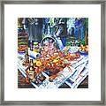 The Crawfish Boil Framed Print by Dianne Parks