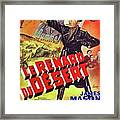 The Desert Fox  James Mason Theatrical Poster Number 2 1951 Color Added 2016 Framed Print