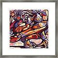 The Distortion Of The Muse Framed Print