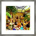 The Easter Holiday Tea At The Palm Court Framed Print