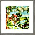 The Farm House Framed Print