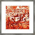 The Fire Dance Down Below Framed Print