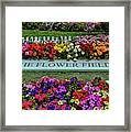 The Flower Field Framed Print