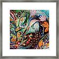 The Flowers And Sea Framed Print