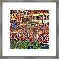 The Holy Ganges - Paint Framed Print