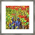 The Joys Of Autumn Camping - Paint Framed Print