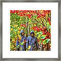 The Joys Of Autumn Camping Framed Print