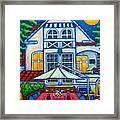The Little Festive Danish House Framed Print