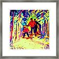 The Magical Skis Framed Print