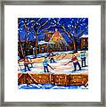 The Neighborhood Hockey Rink Framed Print