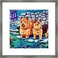 The Purple Gate - Norwich Terrier Framed Print by Lyn Cook