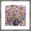 The Rainbow Flowers Framed Print
