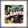 The Raven, From Left Boris Karloff Framed Print by Everett