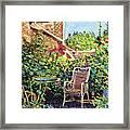 The Roof Garden Framed Print by David Lloyd Glover
