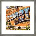 The Shady Dell Bisbee Az Framed Print