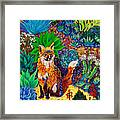 The Sun Fox Framed Print