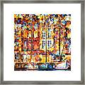 The Three Friends - Palette Knife Oil Painting On Canvas By Leonid Afremov Framed Print