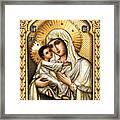 Theotokos Of Tenderness Framed Print
