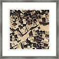 This Old Salt Slab Town In Dirkou Framed Print