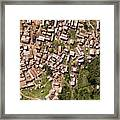 This Small But Dense Town Is Located Framed Print