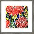 Three Red Blooms Framed Print