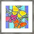 Three Butterflies Framed Print