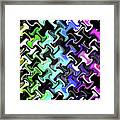 Three-d Dimensional Abstract Design Framed Print