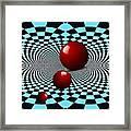 Three Red Balls Framed Print