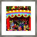 Ticket Booth Of Flowers Framed Print
