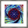 Tie Dyed Om Swirl Framed Print