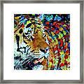Tiger Big Colors Framed Print