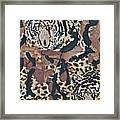 Tigers Tigers Burning Bright Framed Print by Ruth Edward Anderson