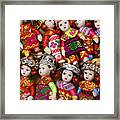 Tiny Chinese Dolls Framed Print