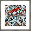 Tire Well Sparrows Framed Print