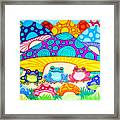 Toads And Toad Stools Framed Print