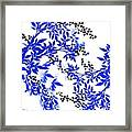 Toile Blue And White Tree Framed Print