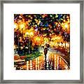 Touch Of Rain Framed Print
