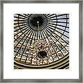 Tower Through Glass Dome In Bellagio Ceiling Framed Print
