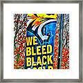 Towson Tigers Black And Gold Framed Print