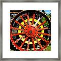 Tractor Big Wheel Framed Print